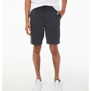 Aeropostale Mens Ash Gray Jogger Shorts Small